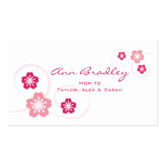 Cherry Blossom Mom Calling Card Double-Sided Standard Business Cards (Pack Of 100)