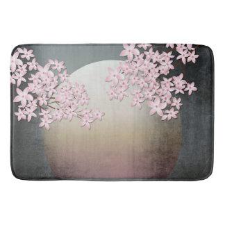Cherry Blossom Moon Design Asian inspired bath mat
