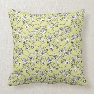 Cherry blossom pattern cushion