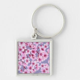 Cherry blossom pattern key ring
