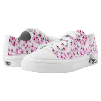 Cherry blossom pattern low tops