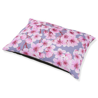 Cherry blossom pattern pet bed