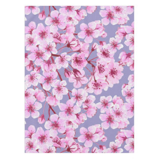Cherry blossom pattern tablecloth
