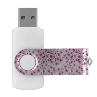 Cherry blossom pattern USB flash drive