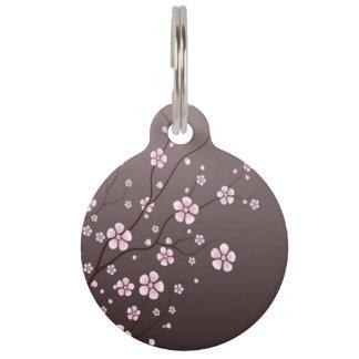 Cherry Blossom Pet ID Tag