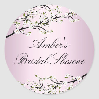 Cherry Blossom Pink Bridal Shower Sticker