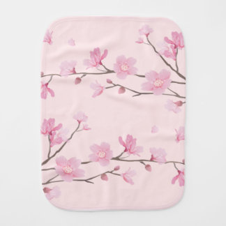 Cherry Blossom - Pink Burp Cloth