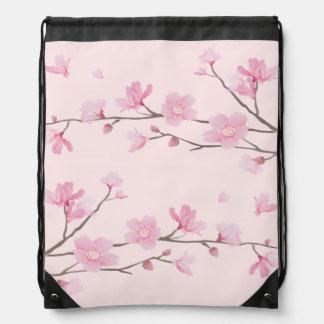 Cherry Blossom - Pink Drawstring Bag