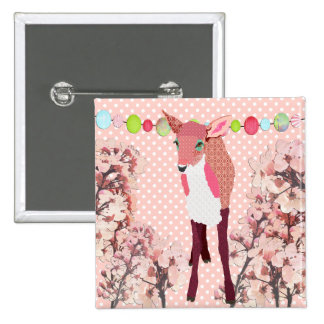 Cherry Blossom Pink Fawn Button