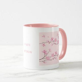 Cherry Blossom - Pink - HAPPY BIRTHDAY Mug