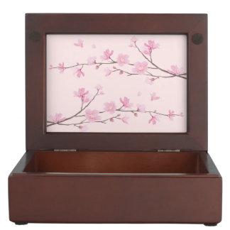 Cherry Blossom - Pink Keepsake Box