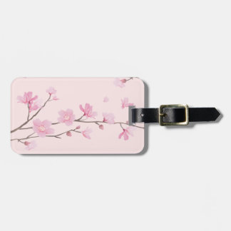 Cherry Blossom - Pink Luggage Tag