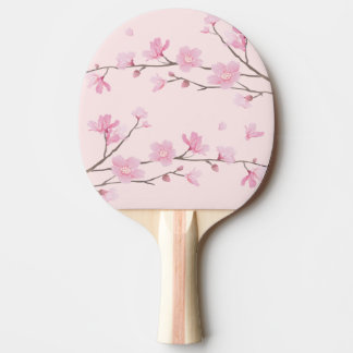 Cherry Blossom - Pink Ping Pong Paddle