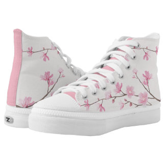 Cherry Blossom - Pink Printed Shoes