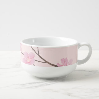 Cherry Blossom - Pink Soup Bowl With Handle