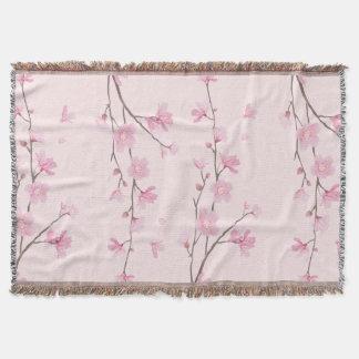 Cherry Blossom - Pink Throw Blanket