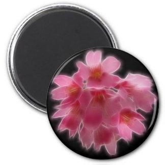 Cherry Blossom Pink Tree Flower 6 Cm Round Magnet