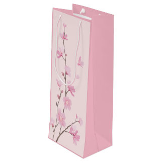 Cherry Blossom - Pink Wine Gift Bag