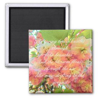 Cherry blossom poem magnet