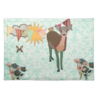 Cherry Blossom Pretty Pink Fawn American MoJo Plac Place Mats