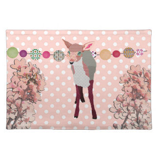 Cherry Blossom Pretty Pink Fawn American MoJo Plac Placemats