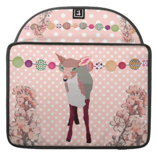 Cherry Blossom Pretty Pink Fawn Macbook Pro Sleeve For MacBooks