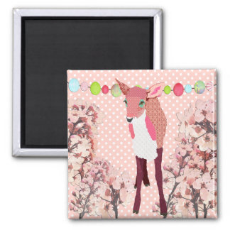 Cherry Blossom Pretty Pink Fawn   Magnet