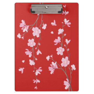 Cherry Blossom - Red Clipboard