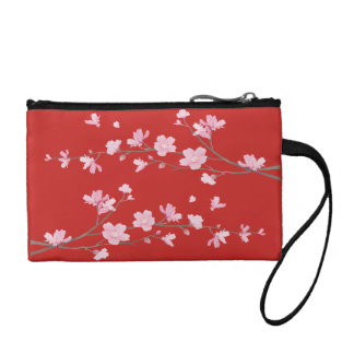 Cherry Blossom - Red Coin Purse