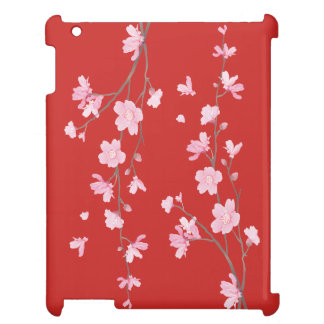 Cherry Blossom - Red Cover For The iPad 2 3 4