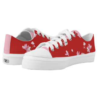 Cherry Blossom - Red Low Tops