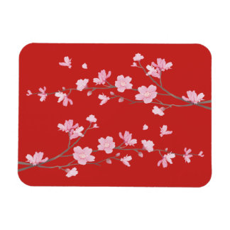 Cherry Blossom - Red Magnet