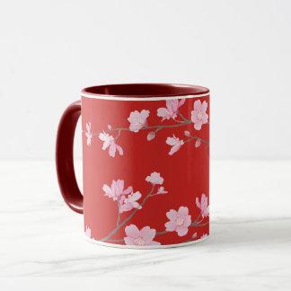 Cherry Blossom - Red Mug