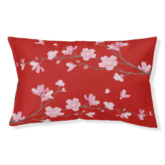 Cherry Blossom - Red Pet Bed
