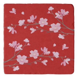 Cherry Blossom - Red Trivet