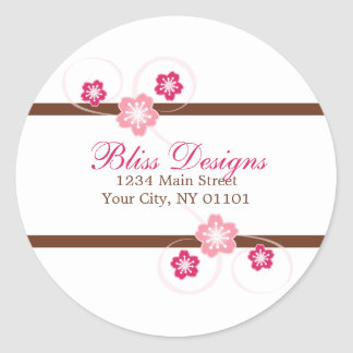 Cherry Blossom Return Address Stickers