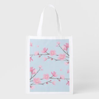 Cherry Blossom Reusable Grocery Bag