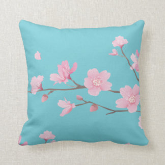 Cherry Blossom - Robin Egg Blue Cushion