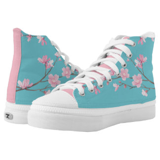 Cherry Blossom - Robin egg blue High Tops