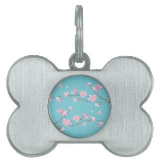 Cherry Blossom - Robin egg blue Pet Name Tag