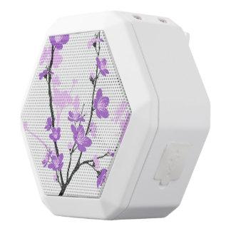 Cherry blossom,royal purple,oriental pattern,flora white boombot rex bluetooth speaker