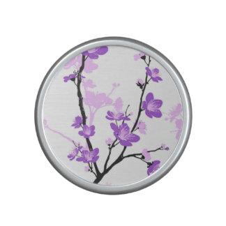 Cherry blossom,royal purple,oriental pattern,flora speaker