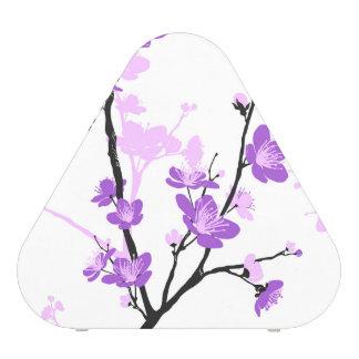 Cherry blossom,royal purple,oriental pattern,flora bluetooth speaker