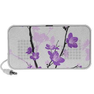 Cherry blossom,royal purple,oriental pattern,flora travel speaker