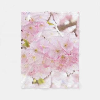 Cherry Blossom Sakura Fleece Blanket