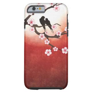 Cherry Blossom Sakura & Love Birds Tough iPhone 6 Case