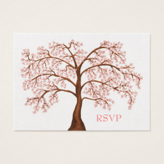 Cherry Blossom Sakura Pearl Wedding RSVP Cards