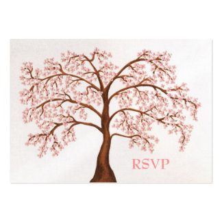 Cherry Blossom Sakura Pearl Wedding RSVP Cards Business Cards