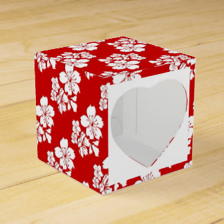 Cherry blossom sakura red japanese party favour box