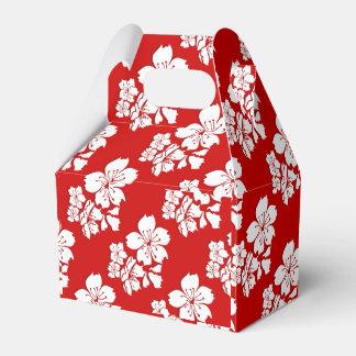 Cherry blossom sakura red japanese wedding favour box